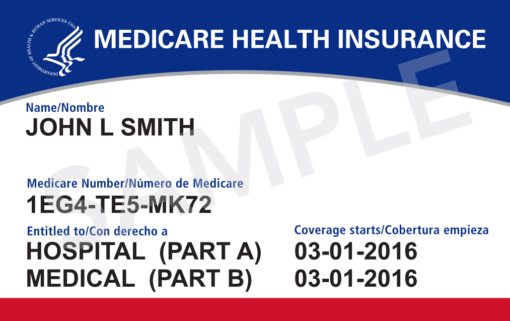 New Medicare Card with Medicare Beneficiary Identifier (MBI) (source: CMS)