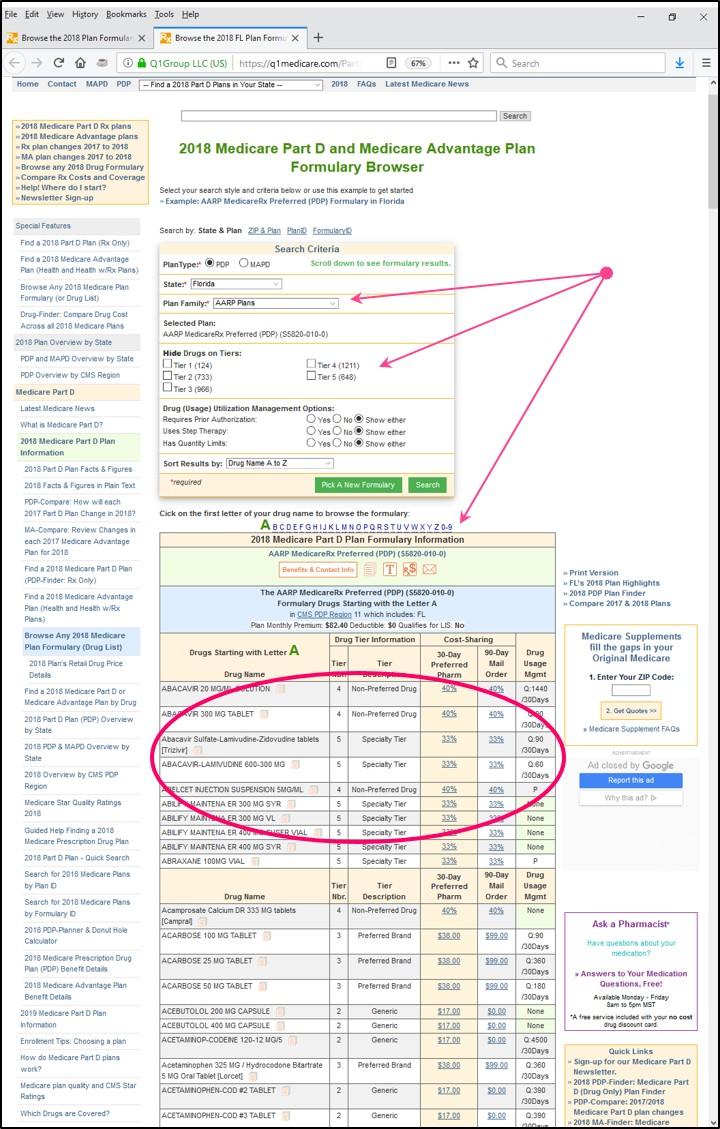 Q1Medicare Formulary Browser Letter A