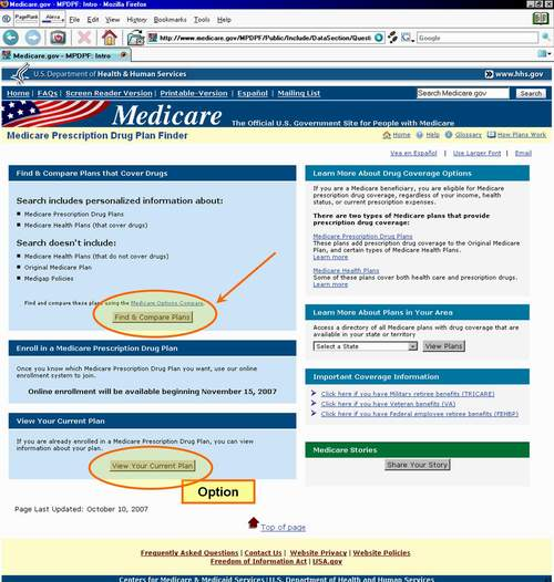 Medicare.gov Find and Compare Plans