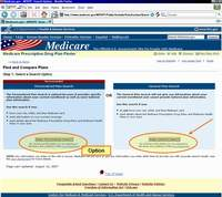 Medicare.gov Tutorial - Select a Search Option