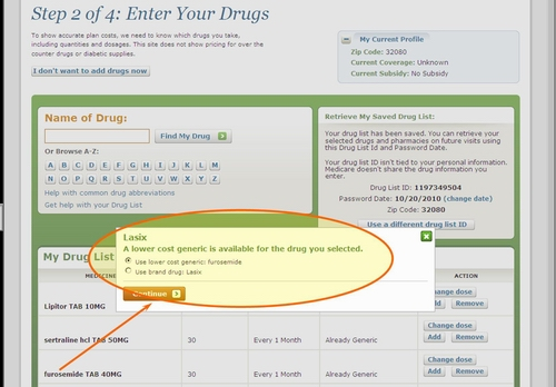 Medicare.gov - Tutorial - Name Brand Drug Search with Generic Drug Suggestions