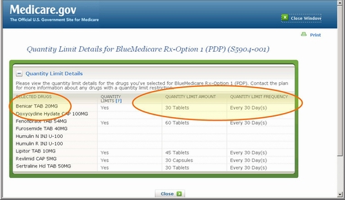 Medicare.gov - Tutorial - Compare Medicare Part D Plans in Your List (Plan Details)