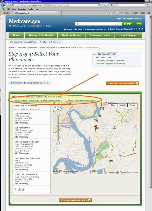 Medicare.gov Tutorial - Map View of Select Preferred Pharmacy or Pharmacies